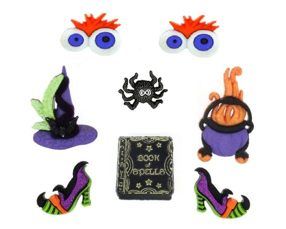 Jesse James Buttons ~ Dress It Up ~ GHOULIES /& GHOSTIES GIRL~ HALLOWEEN ~ CRAFT