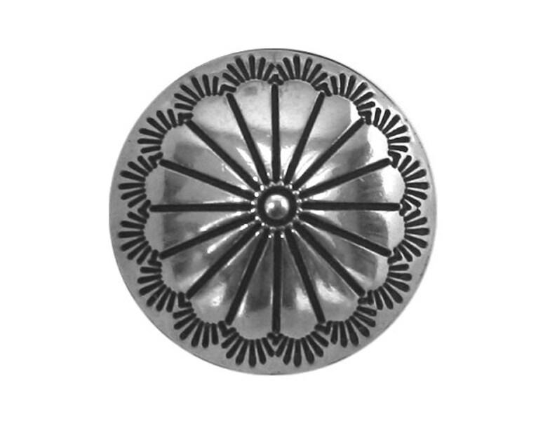594e49597d1 2 pcs. Tiny Cactus Flower Concho 1 2 inch 13 mm Metal