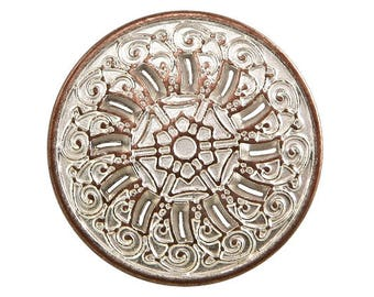 30 Byzantine 13/16 inch ( 20 mm ) Metal Buttons Silver Copper Color