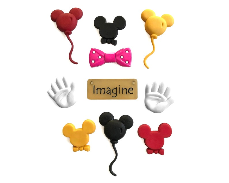 NS Mouse Ears Buttons Galore Embellishments Novelty Button /& Flatbacks Collection