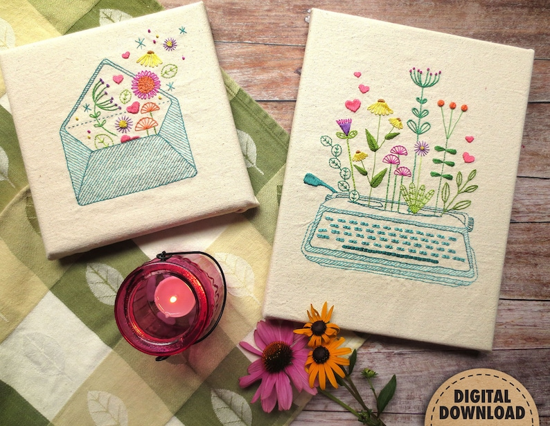 Garden Embroidery Pattern Embroidery Bundle Floral image 0