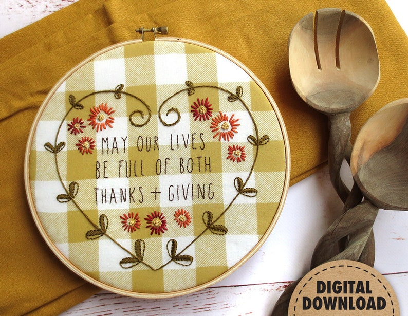 Thanksgiving Decor Fall Embroidery Pattern Inspirational image 0