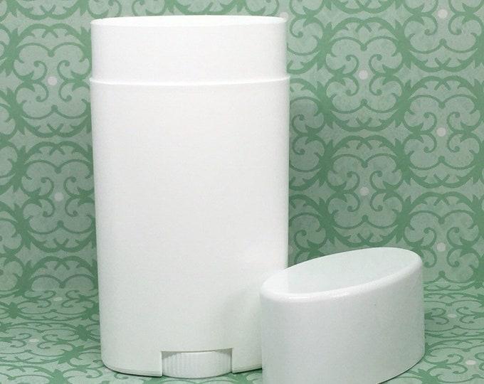 Deodorant Tubes With Flat White Caps, 2.65 OZ
