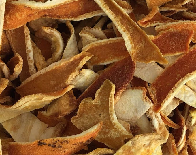 Orange Peel Ribbons, Citrus sinensis,  1 oz.