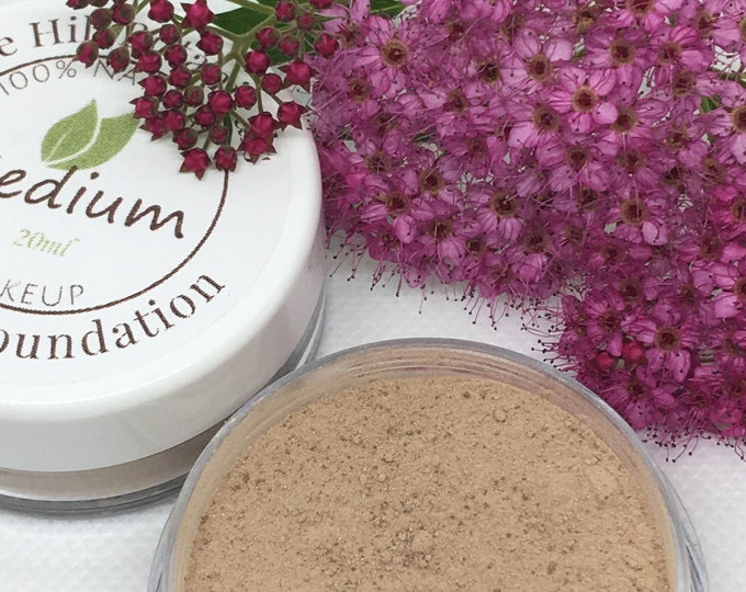 Natural Plant Powder Foundations, Minerals Free, Herbal Makeup, Sheer Coverage, 20ml