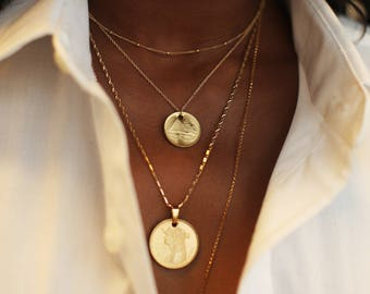 THE EGYPTIAN Coin Necklace Stack