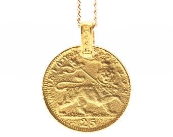 THE RASTAFARI Coin Necklace