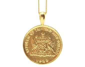 THE TRINIDAD and Tobago Hummingbird Coin Necklace