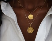 THE EGYPTIAN Coin Necklace Stack I