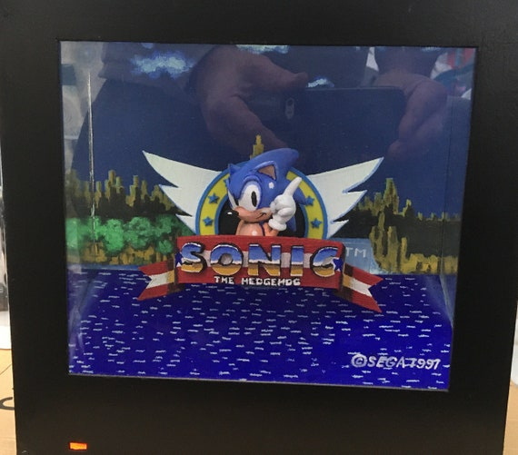 Sonic The Hedgehog Title Screen Box Frame Special Offer Etsy