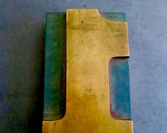 Historical 1800s Handcarved Letterpress Number One From The Uss Battleship Oregon