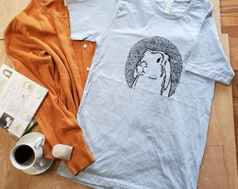 Bunny Shirt/ Rabbit T-Shirt/ Lop Eared Rabbit Shirt/ Floppy Eared Rabbit Tee/ Bunny Tee/ Rabbit Tee/ Buny Art/ Rabbit Sceen Print/ Bunny Art