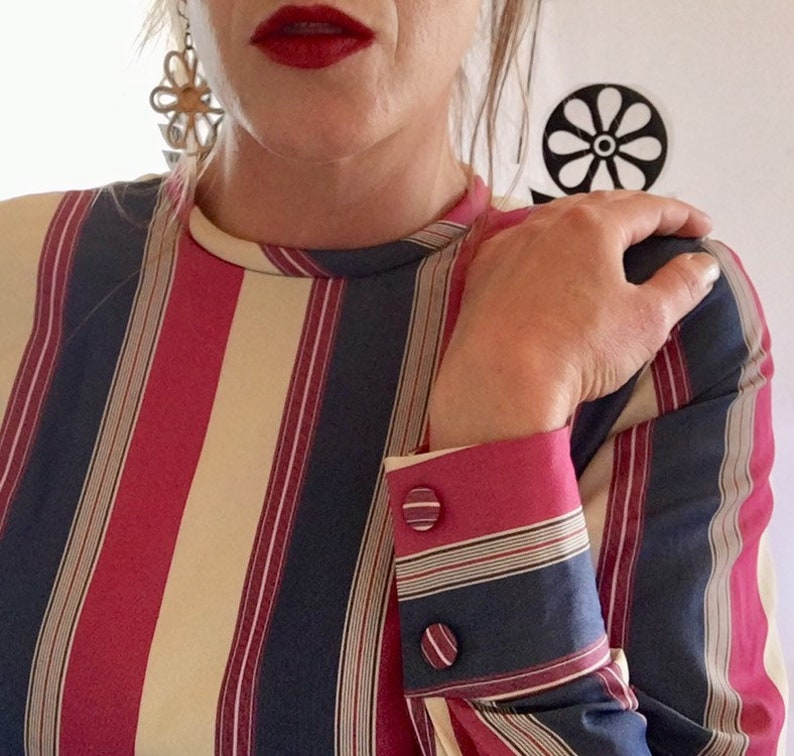 1960s candy stripe mini dress