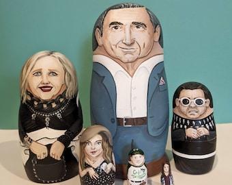 Custom-painted Nesting Dolls - 6 Piece Set
