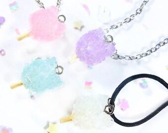 Kawaii,Mahou shoujo,Pastel,Konpeito,OOAK -Katpeito- Rock Candy Cat Necklace