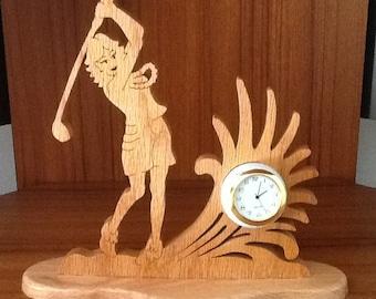 Female Golfer Mini clock