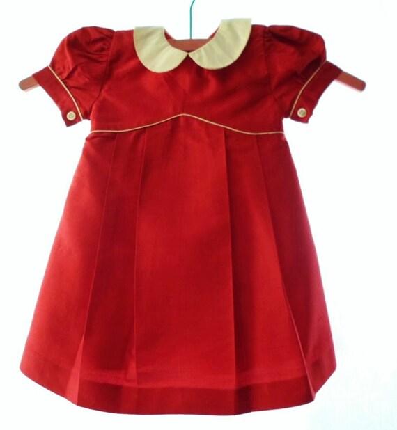Vintage Fleurisse 12 M 100% Silk Little Girls Dres