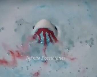Bite Me Bath Bomb Jaws Great White Shark Spa Fizzie ~ Multiple Scents ~ Hand-painted ~ 6 oz. ~ Birthdays ~ Gift Shark ~ Vegan*