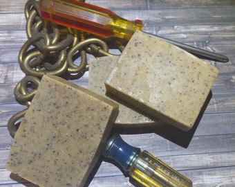 Every Scrub You Take Mechanic's Exfoliant Soap ~ Natural Old-fashioned Cold Processed Bar Soap ~ FREE SHIPPING eligible