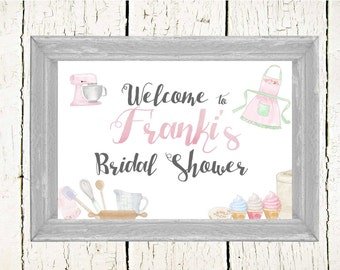 PERSONALIZED Bridal Shower WELCOME SIGN- Bridal Shower Sign-Printable Bridal Shower Sign