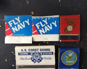 Vintage matchbook Lot of 2 US Marine Corps Multi Colors