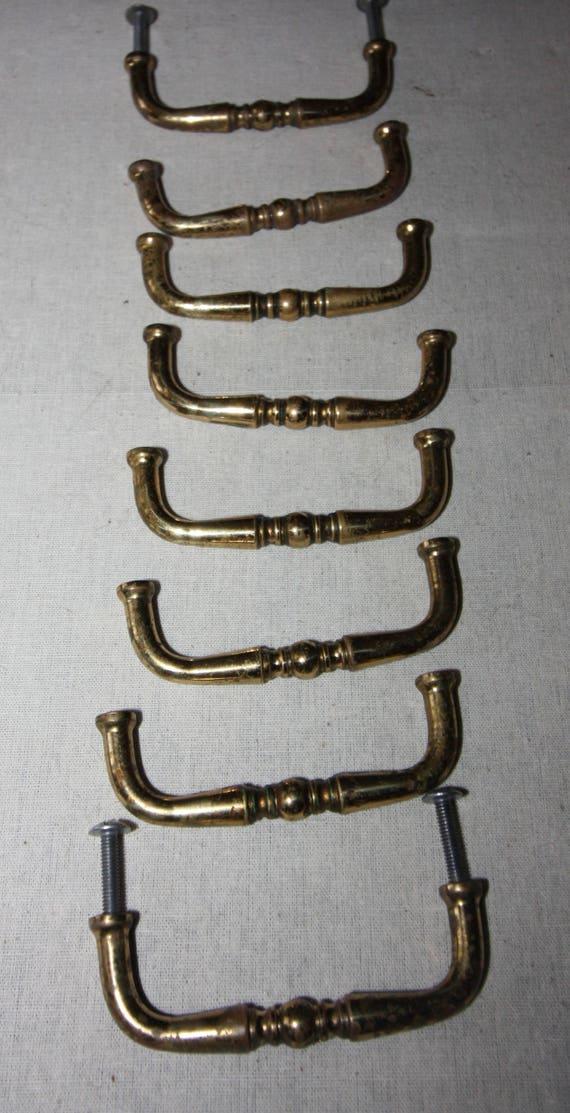 image 0 - Vintage Antique Drawer Pulls Solid Brass Decorative Etsy