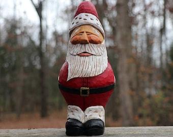 Santa, hand carved