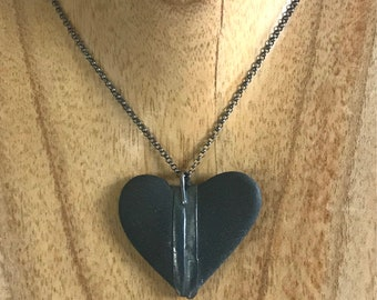 Heart Rock Necklace