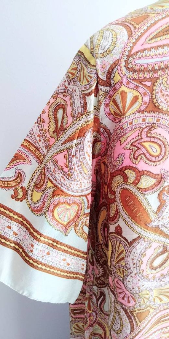 Medium Vintage 1960s Womens Wrap Summer Dress Jac… - image 6