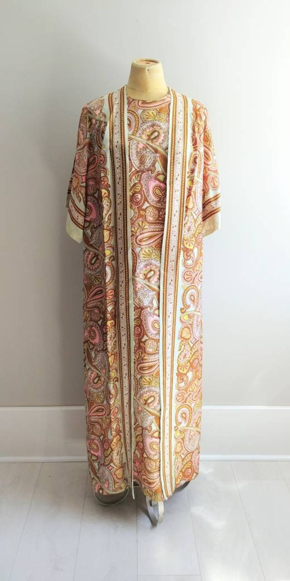 Medium Vintage 1960s Womens Wrap Summer Dress Jac… - image 2