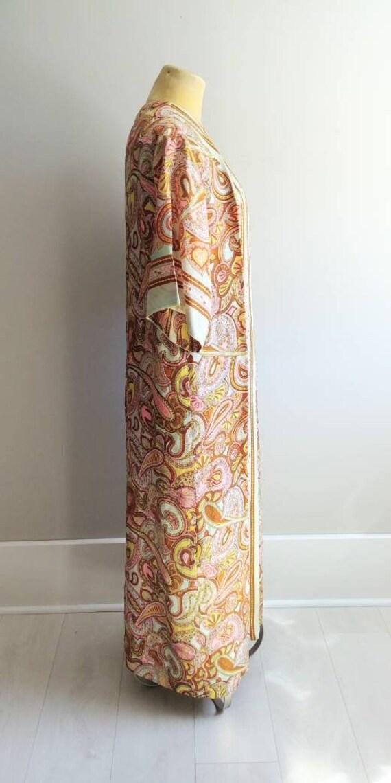 Medium Vintage 1960s Womens Wrap Summer Dress Jac… - image 3