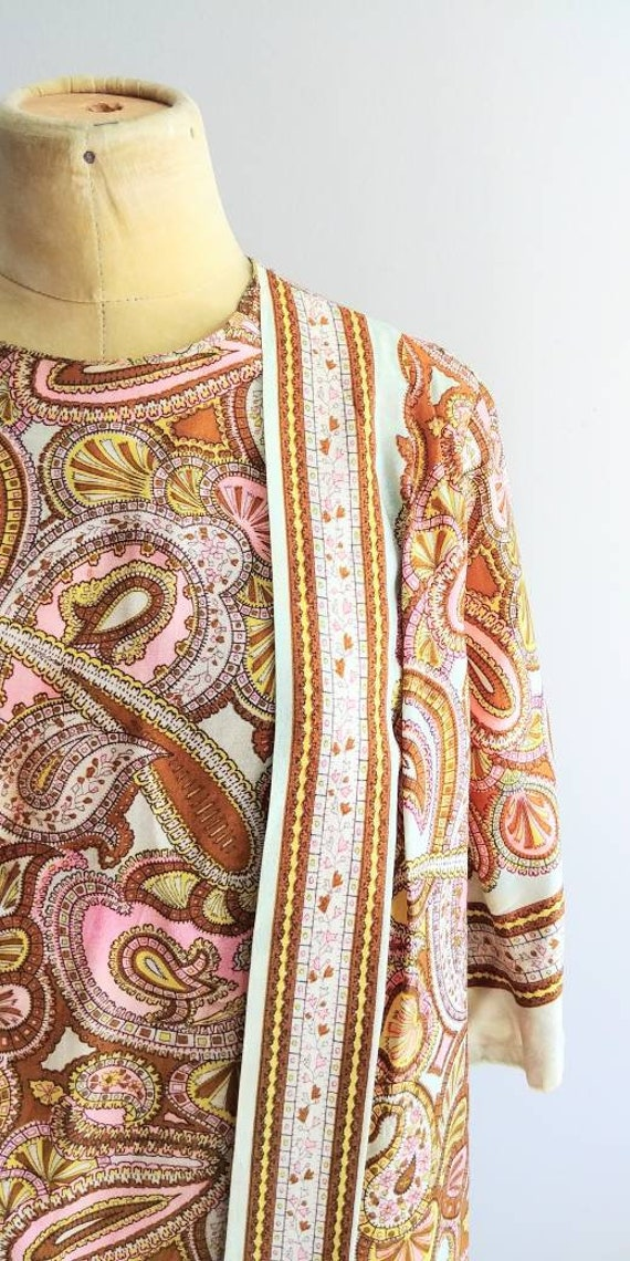 Medium Vintage 1960s Womens Wrap Summer Dress Jac… - image 5