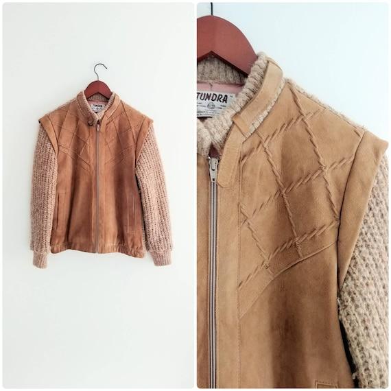 Medium Vintage Womens Suede Sweater Jacket 1970s B