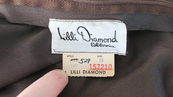 Medium Vintage 1970s Lilli Diamond Palazzo Jumpsu… - image 8