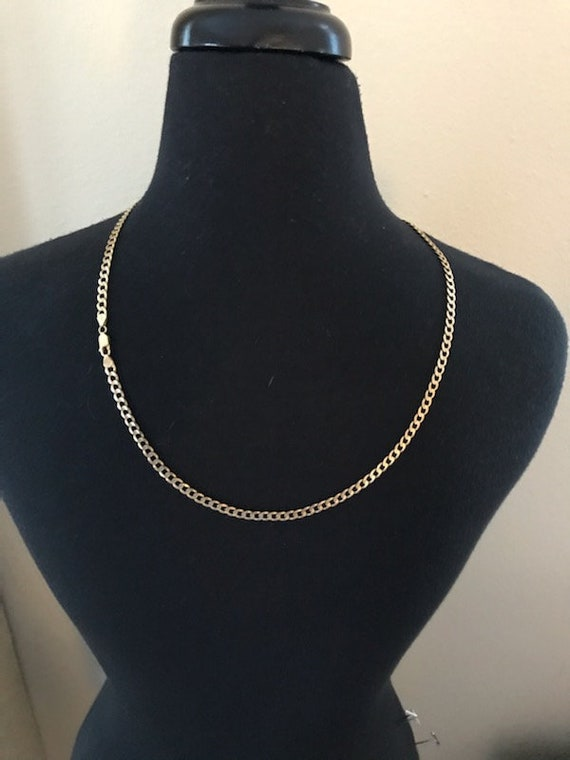 14k Yellow Gold Cuban Link Necklace