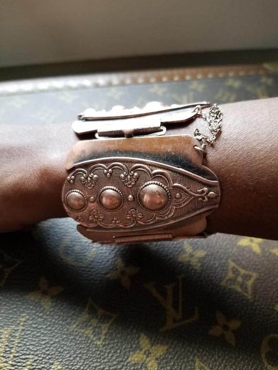 Estate Vintage Rare Whitting and Davis Silver Tone Mesh Choker  Necklace