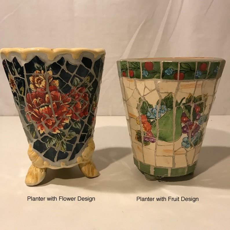 Cute Mosaic Vintage Planters China mosaic Flower Design or Fruit Design Planters