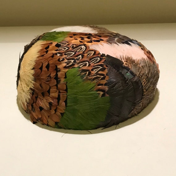 Vintage 1950's Feather Pillbox Hat by Joseph Magni