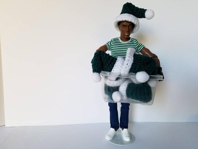 1pc 2.5 Green SANTA/'S HAT 3D Crochet Applique Doll Miniature Hat