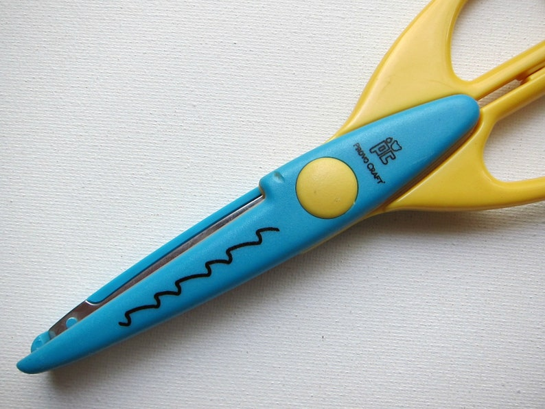 Pc curling wave scissors craft and scrapbooking decorative etsy