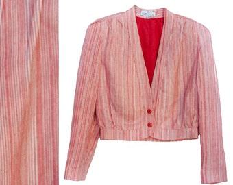 Benton ltd. Jacket circa 85'  red & Cream Vintage