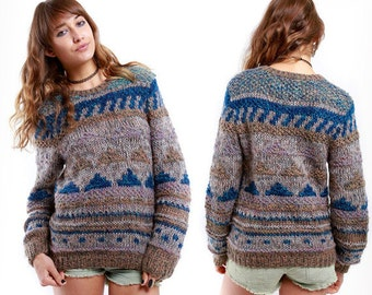 Vintage Erika Hand Knitted sweater circa late 1970's