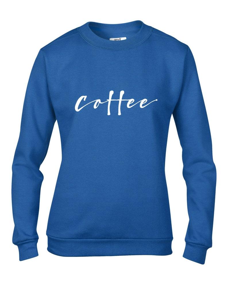 I LOVE COFFEE Ladies Jumper