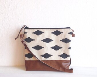 Ikat print crossbody bag, Messanger bag, crossbody purse, casual bag, Navajo