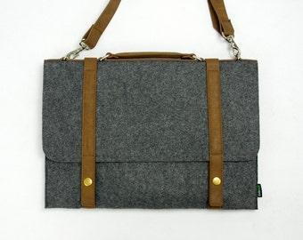 Felt Laptop Bag with a strap Macbook Air Case Cover can hold 13'' Retina Pro Sleeve Shoulder Bag Messenger Tote Hand Bag E1741