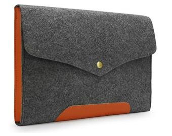 20% OFF Genuine Leather Custom Made Felt iPad 1 2 3 4 Case New iPad Air Sleeve Cover iPad Mini Holder  E1137