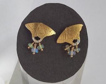 Moth earrings Swallowtail Moth earrings