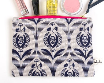 Medium makeup pouch with Art Deco print