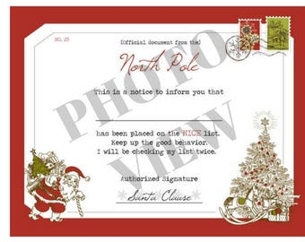Official Letter From Santa Printable