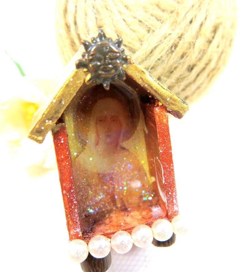 Tiny Shrine  Boho Chic Art Box   Altered Art Box  Collage image 0